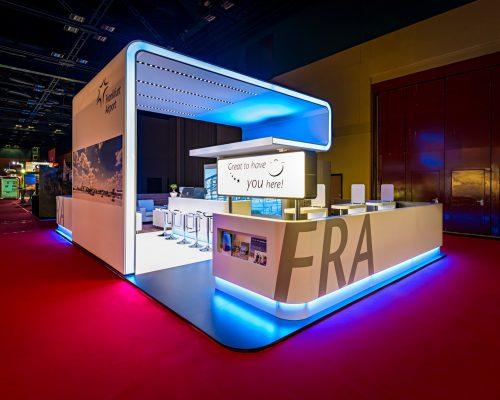 Frankfurt Frankfurt Airport Worldroutes Entwurf: FAIRNET, Projektmanagement: FAIRNET, Ausführungspartner: Messebau Arnold