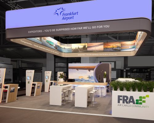 Fraport_Frankfurt Airport transport logistic 2019 Entwurf: FAIRNET, Projektmanagement: FAIRNET, Ausführungspartner: Messebau Arnold